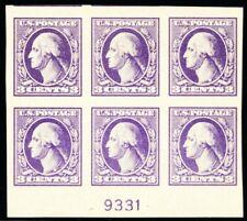 535, Mint NH XF 3¢ Plate Block of Six Stamps -- Stuart Katz