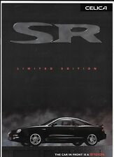 TOYOTA CELICA SR LIMITED EDITION CAR SALES BROCHURE JUNE 1998