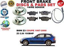 PER BMW Z3 E36 Coupe 2.8i SET DISCHI FRENI ANTERIORI + PASTIGLIE FRENO KIT +