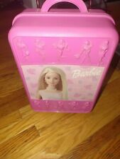 Barbie Take a Long Rolling Suitcase Pink Holds 8 Dolls Carry Case Vintage 1998
