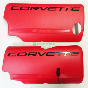 01-04 LS6 Corvette Fuel Rail Engine Coil Covers LH RH (Pair) RED GM