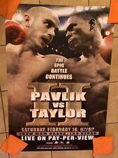 2008 Original Kelly Pavlik Vs. Jermain Taylor Boxing Poster Rare MGM 27x40 PPV