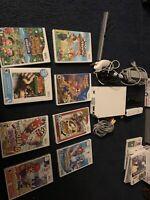 Nintendo Wii Gaming Console Sensor +Cords Gamecube Compatible RVL-001 bundle. no