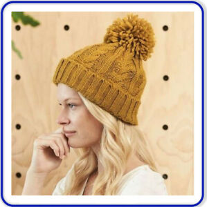 Womens Scarf Hat Glove Set- Soft Warm Thick Cable Knit- Perfect Christmas Gift!