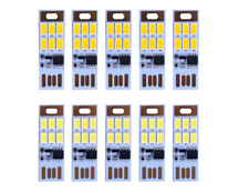 HUAHA 10pcs USB Mini LED Lights 6 Keychain Lights Lamp with Smart Touch Dimming