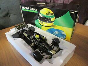 Minichamps pauls model art 1/18 Lotus Renault 98T Ayrton Senna 1986