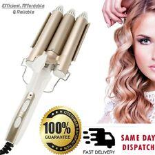Electric Hair Curler Ceramic Triple Barrel Waver Curling Iron Wand Tongs Styler