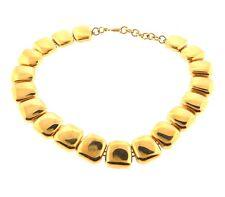 Vintage Monet Gold tone Square Link Necklace Strand .8 x 18.5 Inch