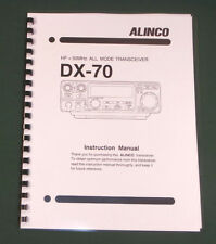 Alinco DX-70 Instruction Manual - comb bound & protective covers !