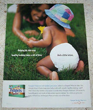 1999 ad page - Pampers Premium baby Diaper CUTE Procter & Gamble Print ADVERT