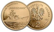 POLAND 2 zlote 2013. Polish ships - guided missile destroyer Warsaw