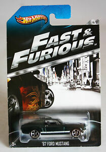 VERY RARE 2012 HOT WHEELS FAST & FURIOUS '67 FORD MUSTANG 4/8 BRAND NEW SEALED !
