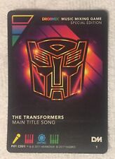 DROPMIX TRANSFORMERS THEME SONG 2018 SDCC EXCLUSIVE HASBRO PROMO CARD DROP MIX