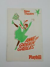 Theatre Bill Playbill Anne Of Green Gables New Theatre Ticket August 4,1964