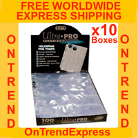 1000 x ULTRA PRO PLATINUM 20 POCKET POG COINS TAZOS CAPS PAGE SLEEVE 10 BOX CASE