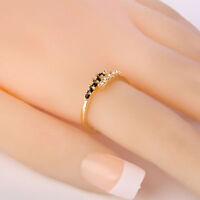 Taille 5,6,7,8,9 Bague nuptiale de mariage à fiançailles en or blanc pour femme