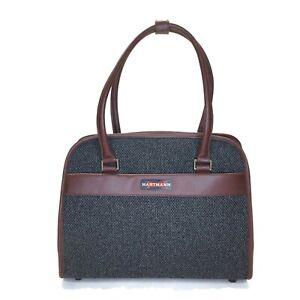 Hartmann Tweed Shoulder Top Handle Bag Logo is the RED X Trade – Mark 1910's