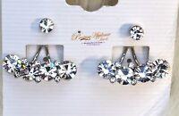 Crystal Double Stud Girls Earring Jewellery