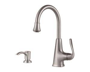 Pfister Pasadena 1-Handle Bar & Prep Faucet - Stainless Steel - F-072-PDSS