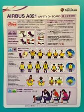 TRANSASIA AIRLINES SAFETY CARD--AIRBUS 321--VERSION 8