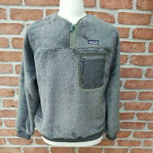 Patagonia Men's Medium Double Sided Fleece Pullover. Forge Grey.