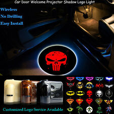 2x Wireless Red Punisher Logo Car Door Welcome Projector Shadow CREE LED Light
