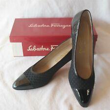 Salvatore Ferragamo Milly size 11 AA Patent Leather combo Black W/ Box Very Nice