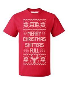 Merry Christmas Shitter's Full Ugly Christmas Men's T-shirt funny Xmas tee