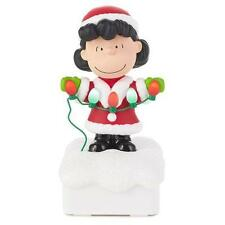 2015 Hallmark Peanuts Gang LUCY Christmas light show wireless band plays music