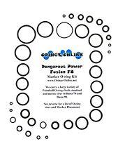 Dangerous Power DP Fusion F8 Paintball Marker O-ring Oring Kit x 4 rebuilds