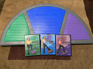 Walkblaster Ramp Leslie Sansone Step Stepper Aerobic Cardio Excercise 3 DVDs