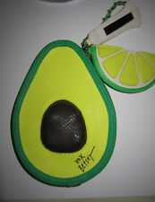 BETSEY JOHNSON HOLY GUACAMOLE AVOCADO WRISTLET PURSE