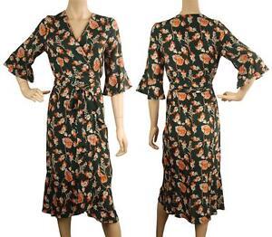 Beautiful ConMiGo A00102S flora wrap dress - dark green