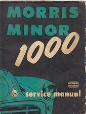MORRIS MINOR 1000 ( 948 cc ) 2 & 4 DOOR SALOON 1957 - 1961 OWNER WORKSHOP MANUAL