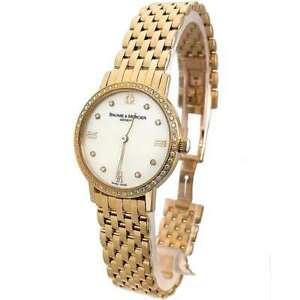 Brand New Baume & Mercier Classima Executives 18K Gold Ladies Diamond Watch