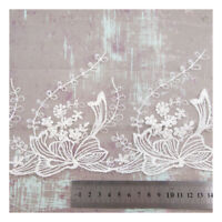 1 METRE COTTON LACE 150mm WIDE EMBROIDERY TRIM DRESSMAKING TRIMMING EDGE HL427