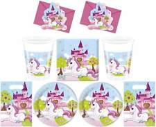 Einhorn XL Party Set Plate Cups Napkins Party Bags Cards Dishes Unicorn