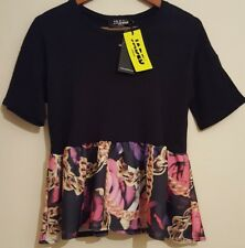 Jaded London Womens Urban Roses And Gold Chains Blouse Top Size XS RRP £60