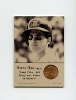 OMAR VIZQUEL 1988 Penny Insert NEVER GO BROKE Trade Card RARE