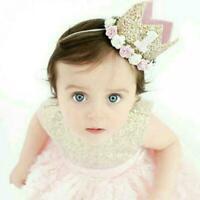 Baby Girl First Birthday Party Hat Flower Princess X8Q6 Crown-Decor-Hair-Ac Z6X1