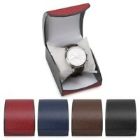Faux Leather Watch Box Organizer Bracelet Storage Luxury Wristwatch Holder