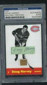 Doug Harvey PSA/DNA Certified Autograph Signature Cut Custom Card w/ Game Stick