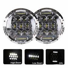 2x 75W 7inch Round Chrome LED Headlight for Freightliner Century Hi/Lo Beam