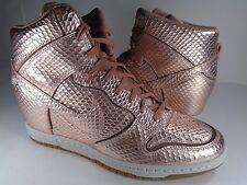 Womens Nike Dunk Sky Hi Cut Out Premium Metallic Red Bronze SZ 8.5 (644411-900)