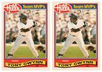 (2) 1989 Topps Hills Team MVP's Baseball #16 Tony Gwynn Card Lot Padres