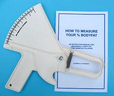 Slim Guide Skin Fold Caliper, The Original, Made In USA, White