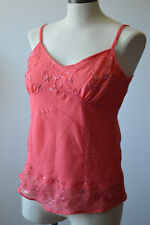 Studio Y Women's Tank Top Camisole Spaghetti Strap  Sequin Beaded Embellished M