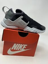 LITTLE KIDS: Nike Huarache Run Extreme Shoes, Black - Size 11C AQ7937-002