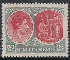 ST KITTS-NEVIS: 1938 2d grey and scarlet perf 13 x 12 SG 71 mint