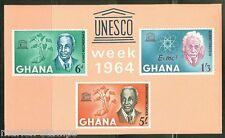 GHANA  IMPERFORATED SOUVENIR SHEET UNESCO  SCOTT#191a  MINT NEVER HINGED